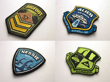 Cryptid Command Officer Kit Patches All 4Up Bigfoot Nessie Alien Ufo