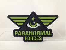 Load image into Gallery viewer, Paranormal Forces eye in triangle pyramid Illuminati military morale patch PVC emblem | Monsterologist