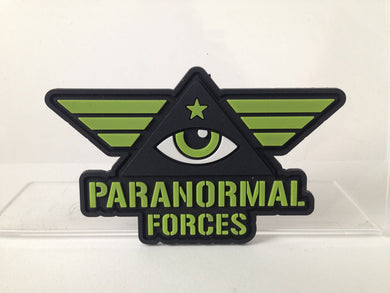 Paranormal Forces eye in triangle pyramid Illuminati military morale patch PVC emblem | Monsterologist