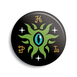 Eye Of Shoggoth Lovecraft pin-back button by Monsterologist.