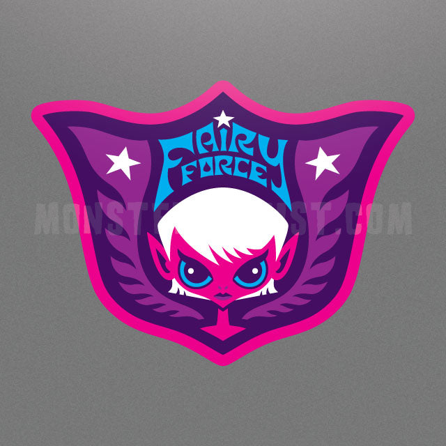 Fairy Force military shield sticker by Monsterologist