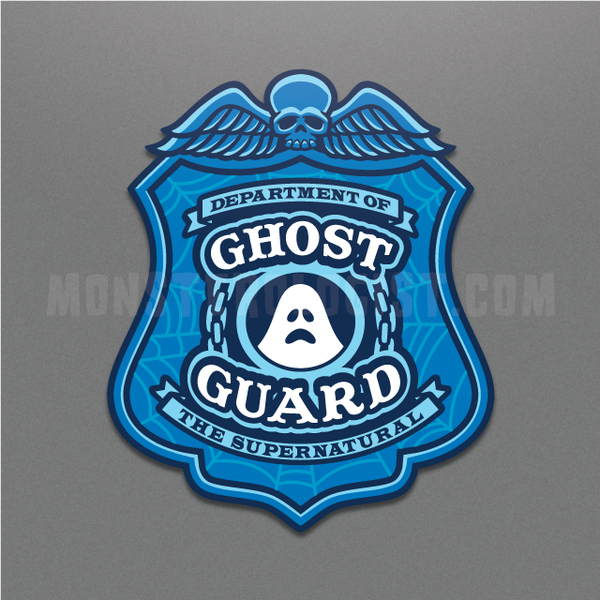 Ghost Guard police badge sticker by Monsterologist