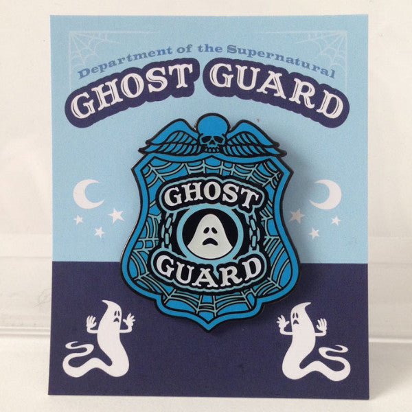 Ghost Guard Enamel Pin Glow In The Dark