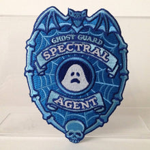 Load image into Gallery viewer, Ghost Guard Patch Spectral Agent Bat Skull glow-in-the-dark