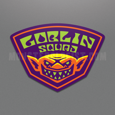 Goblin Squad military insignia folklore sticker