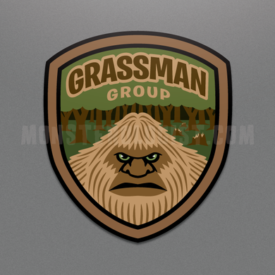 Grassman Group Bigfoot die-cut vinyl sticker by Monsterologist