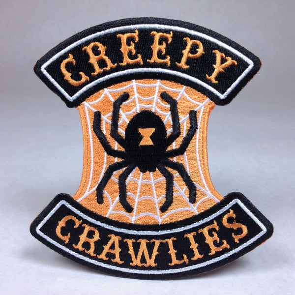 Hallows Angels Halloween Motorcycle Biker Patch Creepy Crawlies Spider