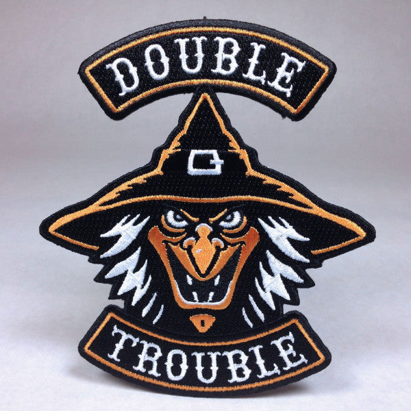 Hallows Angels Halloween Motorcycle Biker Patch Double Trouble Witch