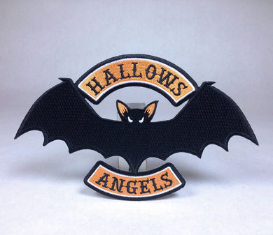 Vampire Bat Halloween Motorcycle Biker embroidered patch Hallows Angels by Monsterologist