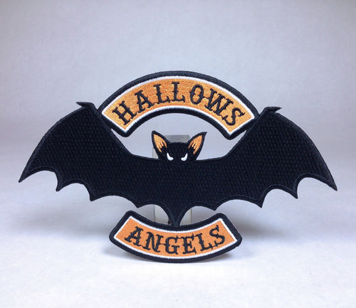 Hallows Angels Halloween Motorcycle Biker Patch Hallows Angels Vampire Bat