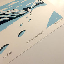 "Load image into Gallery viewer, ""Himalayan Trek"" Yeti screen print"