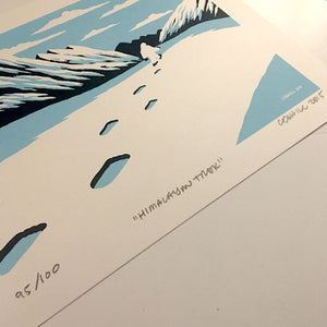 """Himalayan Trek"" Yeti screen print"