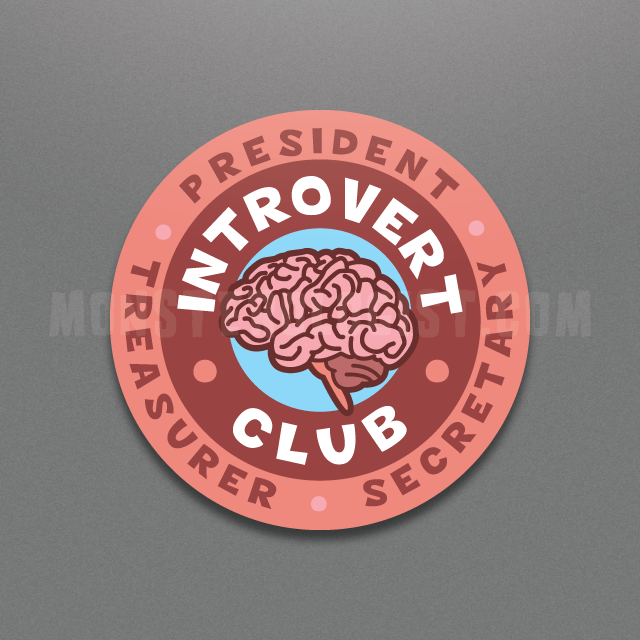 Introvert Club circle sticker