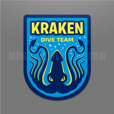 Kraken Dive Team military insignia cryptozoology sticker by Monsterologist