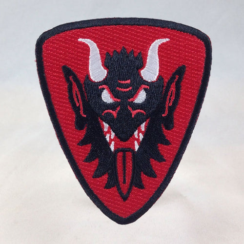 Order Of Krampus Heraldic Patch Krampus Face