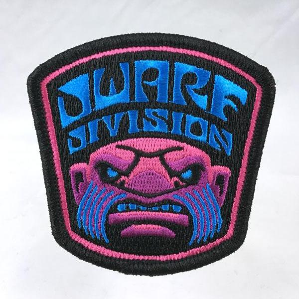 Dwarf Division embroidered patch psychedelic blacklight sword-and-sorcery