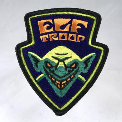 Elf troop embroidered patch psychedelic blacklight sword-and-sorcery