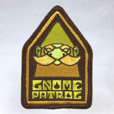 Gnome Patrol embroidered patch psychedelic blacklight sword-and-sorcery