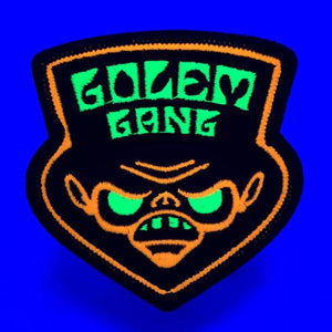 Golem Gang UV reactive blacklight embroidered patch