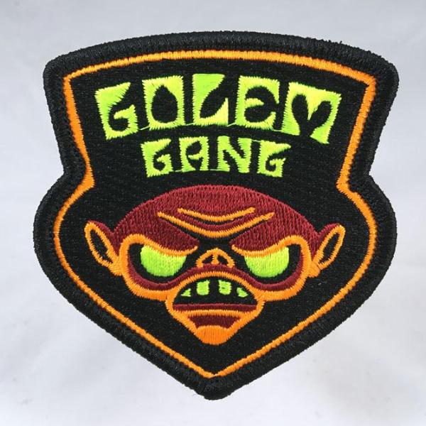 Golem Gang  embroidered patch psychedelic blacklight sword-and-sorcery