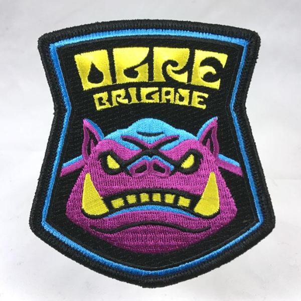 Ogre Brigade  embroidered patch psychedelic blacklight sword-and-sorcery