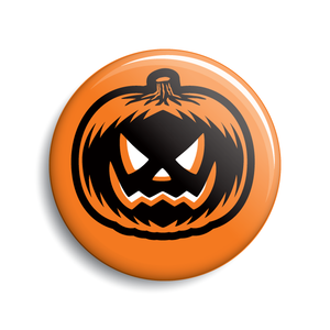 Jack-o-lantern pumpkin Halloween pin-back button
