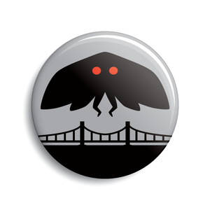 Mothman button by Monsterologist