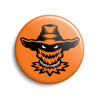 Scarecrow Halloween pin-back button