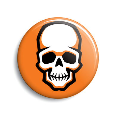Skull Halloween pin-back button