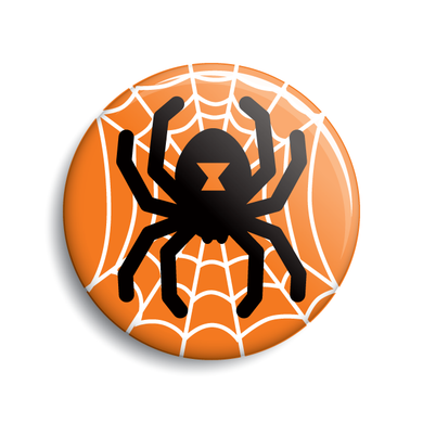 Spider Halloween pin-back button