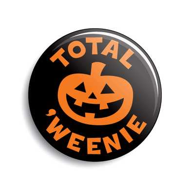 Total Weenie Halloween pumpkin jack-o-lantern button
