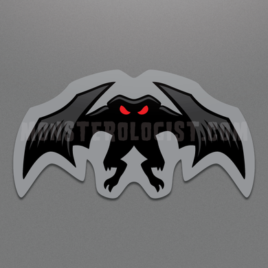 Mothman Sinister die-cut vinyl sticker by Monsterologist