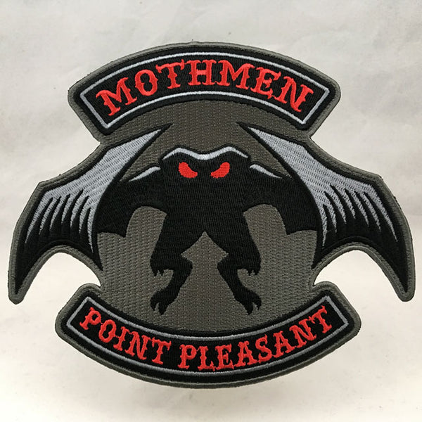 Mothmen - Mothman-themed cryptid motorcycle club biker embroidered patch