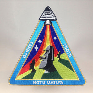 Ancient Astronaut Space Mission Patch | Easter Island Outpost | Monsterologist