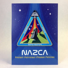 Load image into Gallery viewer, Nazca Ancient Astronaut Space Mission Patches Display Card Easter Island Outpost