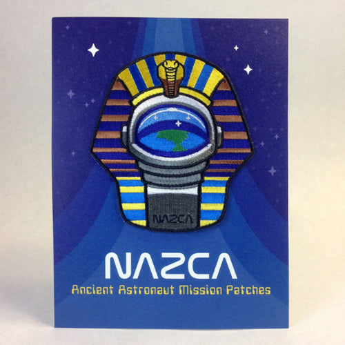 Nazca Ancient Astronaut Space Mission Patches Display Card Pharaoh Astronaut