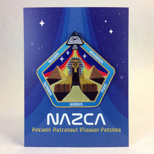 Load image into Gallery viewer, Nazca Ancient Astronaut Space Mission Patches Display Card Sphinx Central