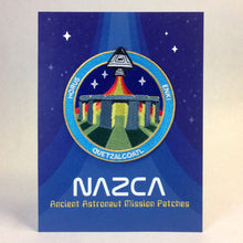 Load image into Gallery viewer, Nazca Ancient Astronaut Space Mission Patches Display Card Stonehenge Station