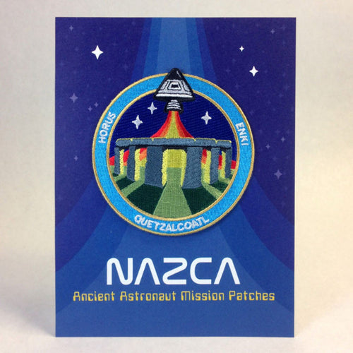 Nazca Ancient Astronaut Space Mission Patches Display Card Stonehenge Station