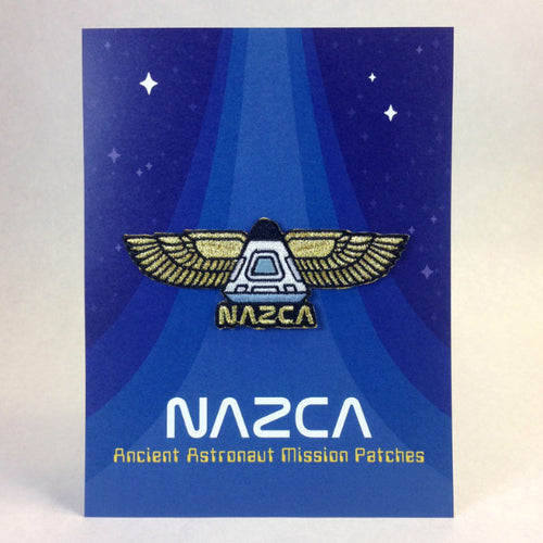 Nazca Ancient Astronaut Space Mission Patches Display Card Winged Capsule