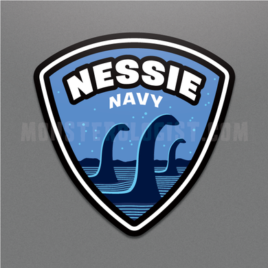 Nessie Navy military insignia cryptozoology sticker by Monsterologist