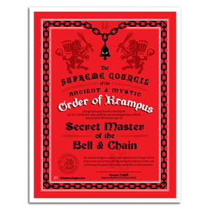 Order Of Krampus Initiation Certificate