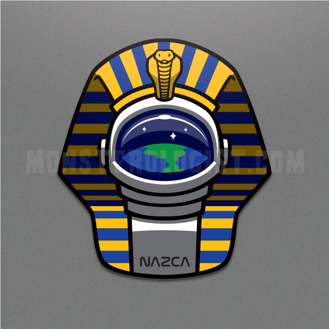Pharaoh Astronaut ancient aliens sticker
