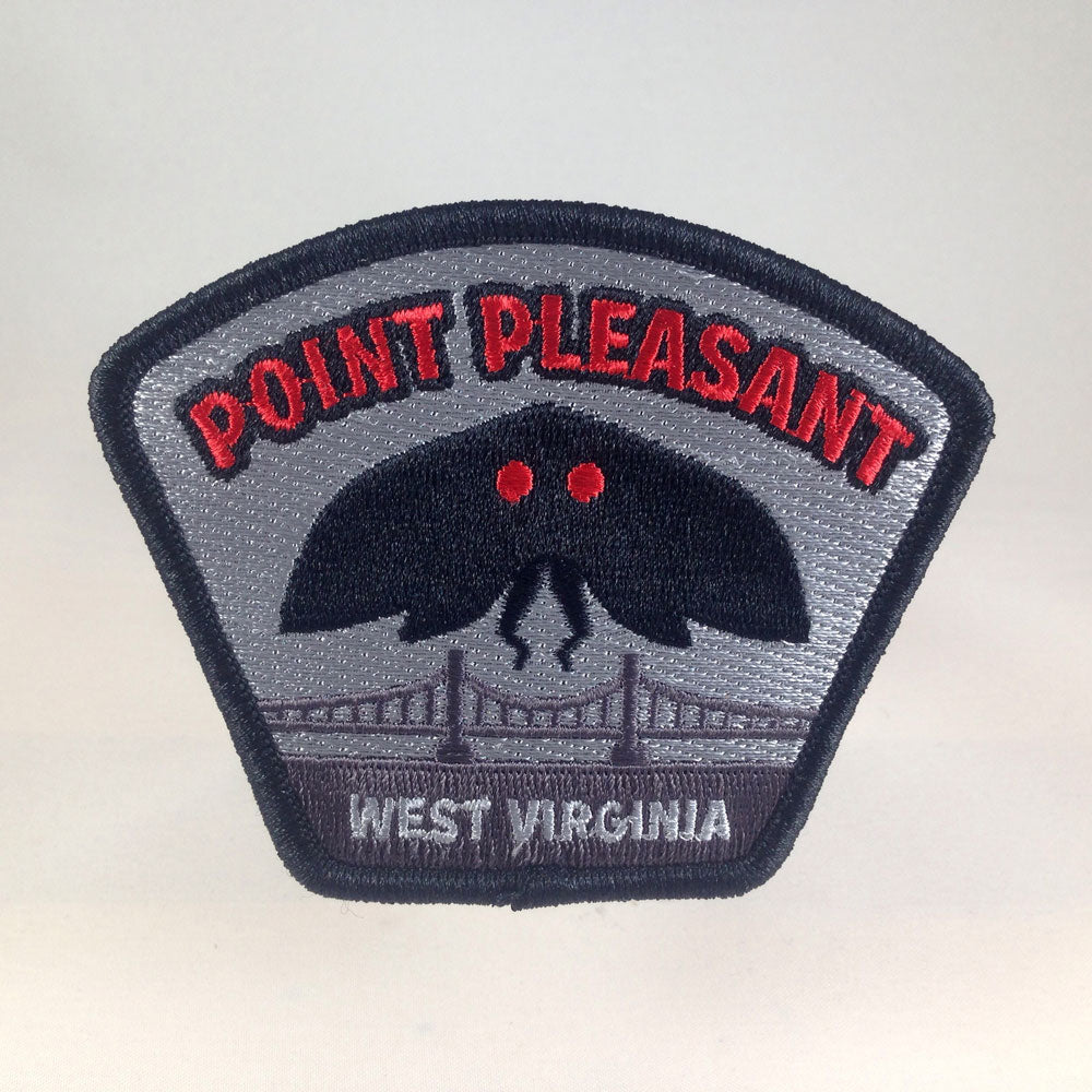 Mothman Point Pleasant, West Virginia cryptozoology paranormal place travel patch by Monsterologist