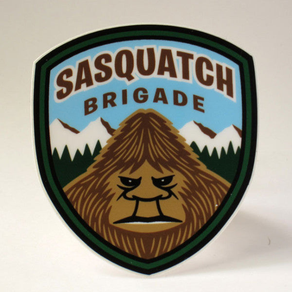 Sasquatch Brigade Park Ranger Shield Sticker