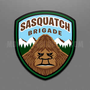 Sasquatch Brigade window cling