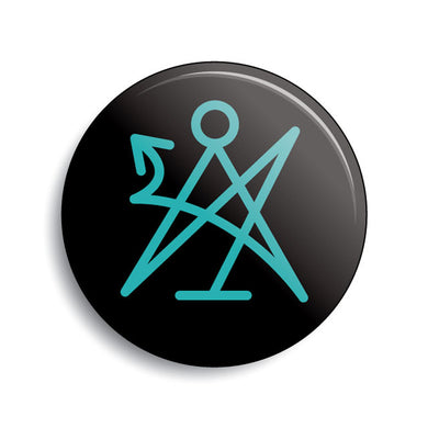Lovecraft Cthulhu occult sigil pin-back button by Monsterologist.