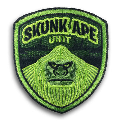 Skunk Ape Unit embroidered patch by Monsterologist