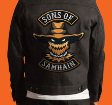 Load image into Gallery viewer, Sons Of Samhain scarecrow Halloween biker back patch