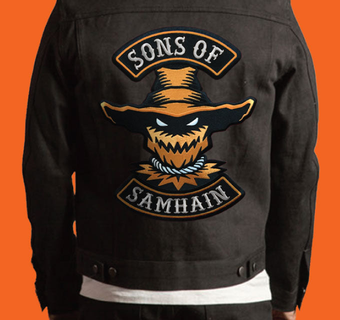 Sons Of Samhain scarecrow Halloween biker back patch